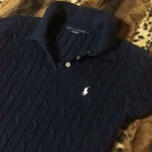 BNWOT Polo Ralph Lauren Cable Knit Tennis Sweater